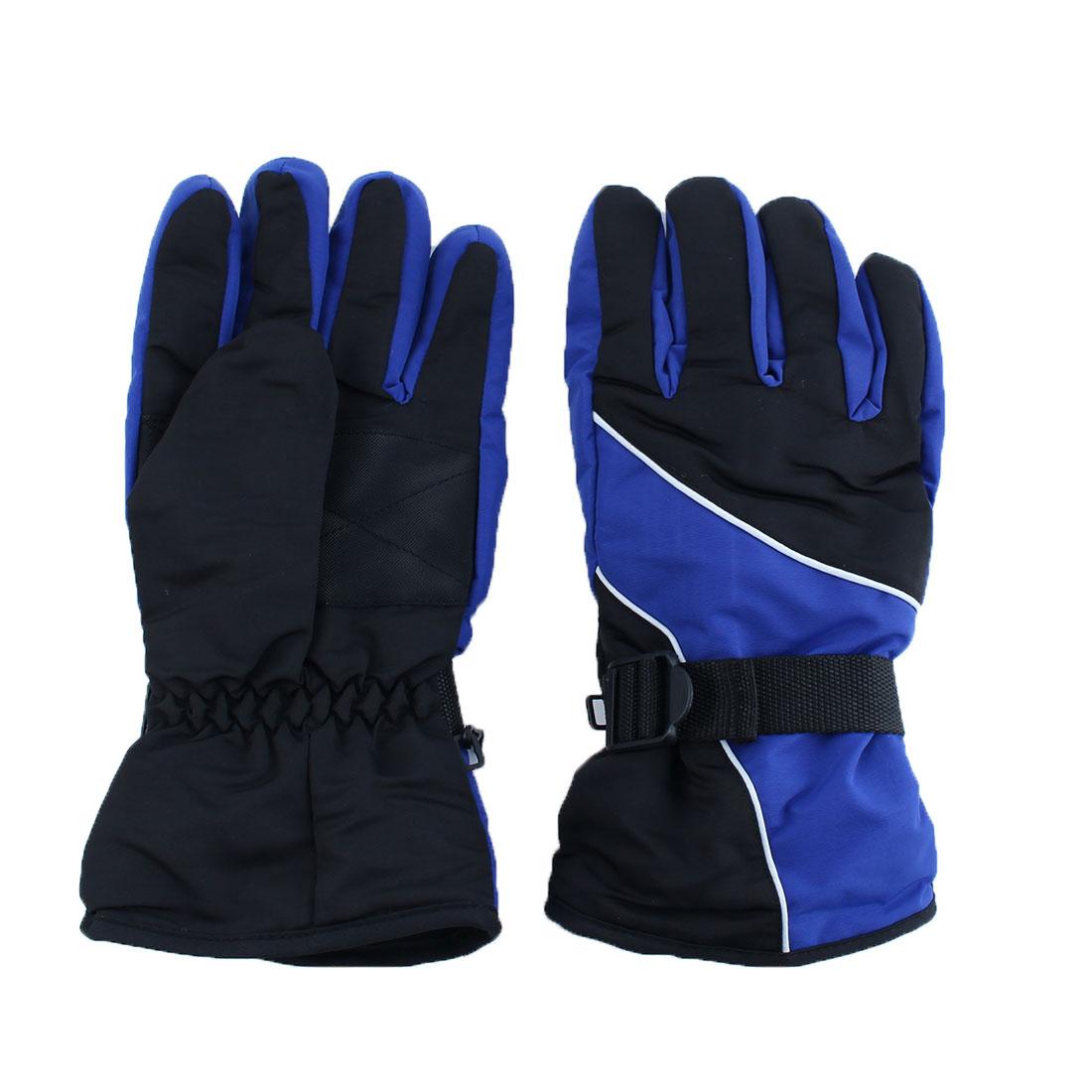 Motorcycle Climbing Winter Snowmobile Ski Gloves Athletic Mittens Dark Blue Pair