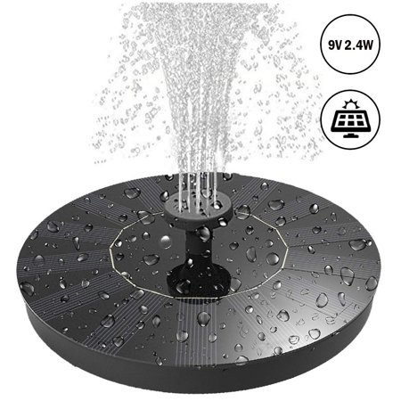 Funeral Standing Spray - 2.4W Free Standing Solar Powered Water Pump Solar Panel Kit with 4 Different Spray Pattern Heads for Bird Bath, Pond, Pool, Garden and Fish Tank