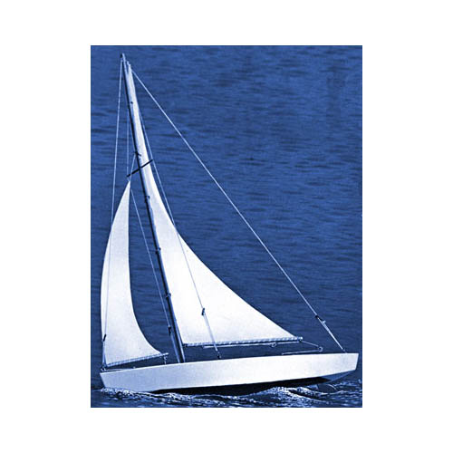 "1102 Ace Sloop Sailboat 17"" Kit Multi-Colored"
