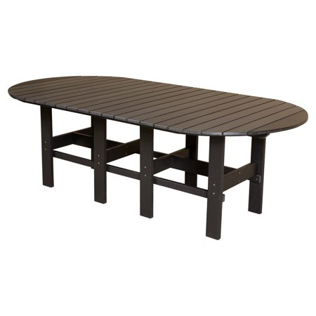 Little Cottage Classic Recycled Plastic 84 In Oval Patio Dining Table Walm