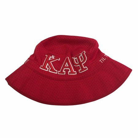 G1945m Kappa Alpha Psi Red And White Embroidered Bucket Hat   Size Medium 58Cm