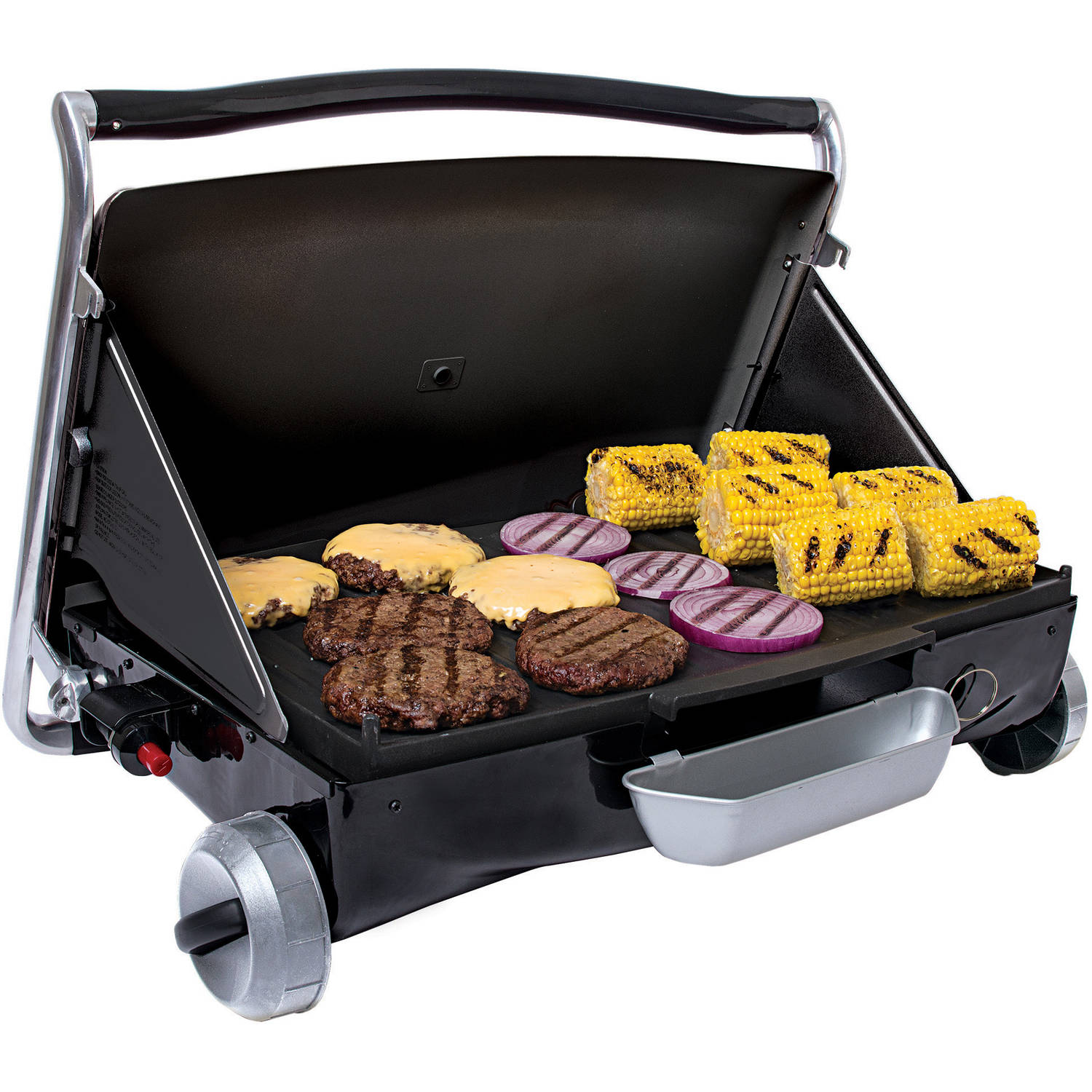 George Foreman Camp And Tailgate Portable Propane Grill, GP200R    Walmart.com
