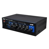 PYLE PTA4 - Mini Stereo Power Amplifier - 2 x 120 Watt with AUX, CD & Mic Inputs