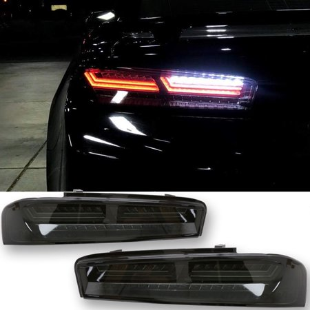2016 18 Chevrolet Camaro Smoke Led Tail Light W Sequential Led Turn