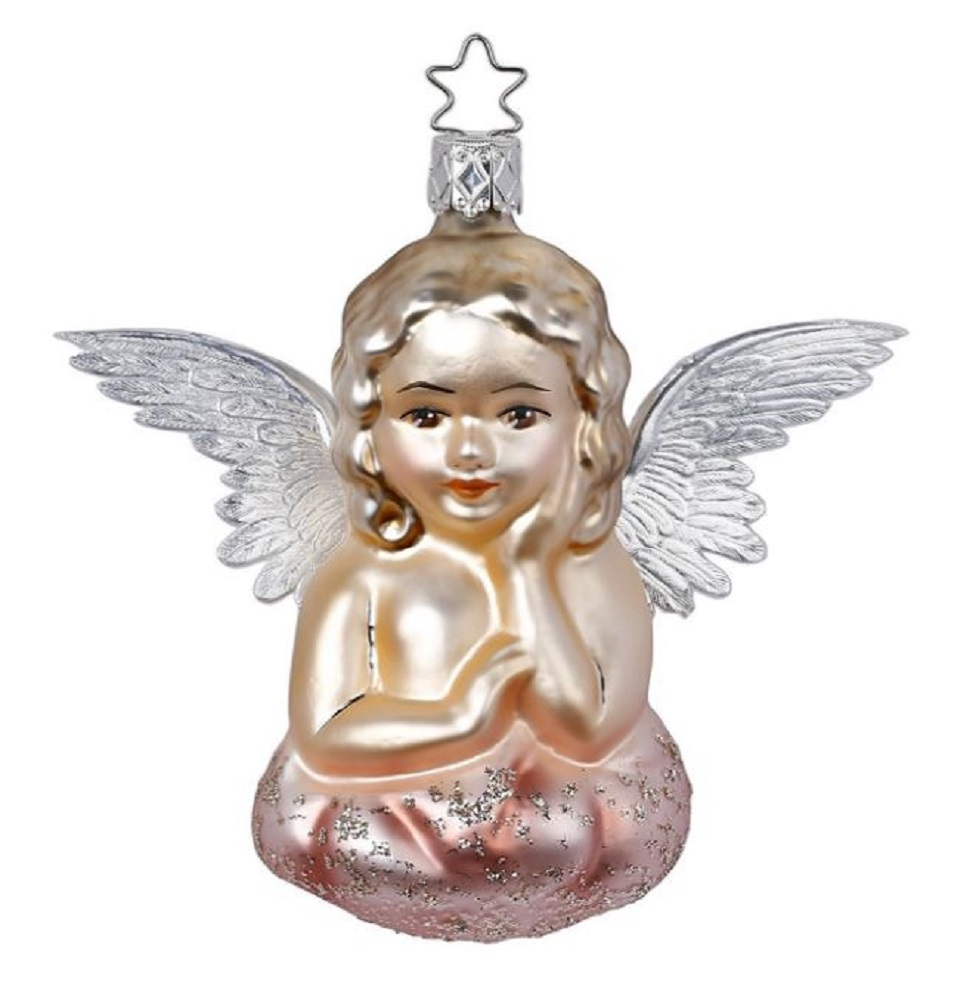 Inge Glas Vintage Style Romantic Angel German Glass Christmas Ornament FREE BOX