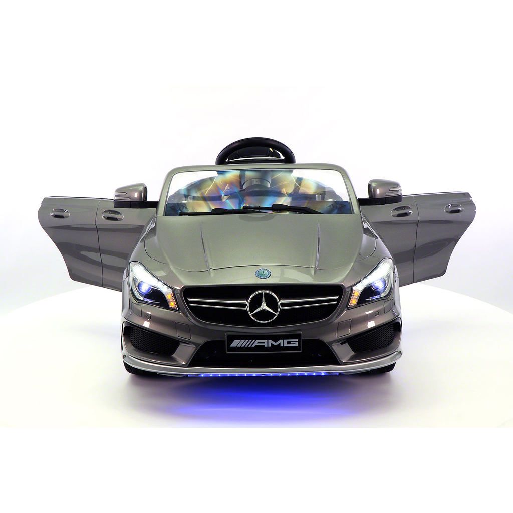 2017 Licensed Mercedes CLA45 AMG Electric Kids Ride-On Car,Girls&Boys,2-5 Years,MP3 Player, AUX Input, USB, Rubber Tires, PU Leather Seat, LED Body Trim, 12V Battery Powered, Parental Remote | Grey
