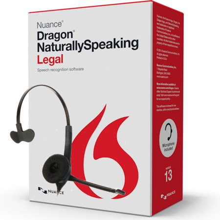 Nuance Dragon NaturallySpeaking Legal Version 13 Speech Recognition Software with Microphone