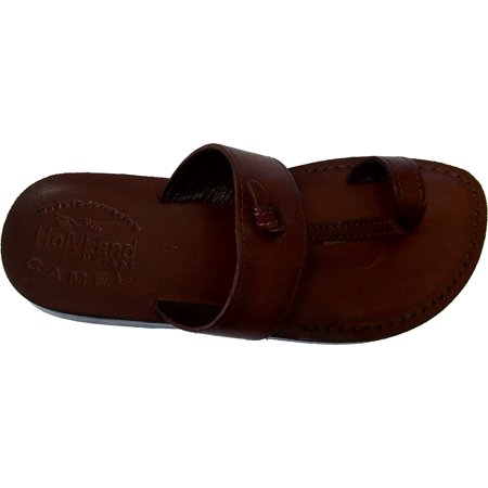 Holy Land Market Unisex Genuine Leather Biblical Flip flops (Jesus - Yashua) Nazareth Style
