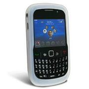 BlackBerry Curve 8520 / 8530 Silicone Case - Clear/ White