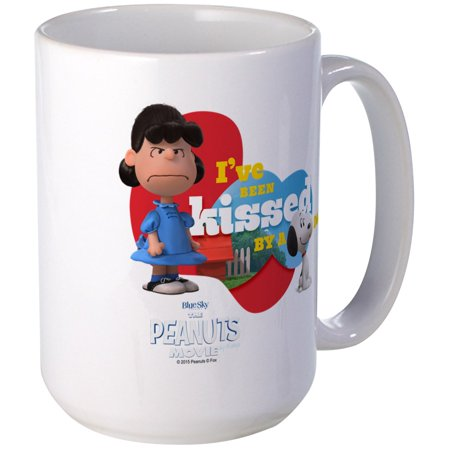 CafePress - Kissed By A Dog - Peanuts Movie Large Mug - 15 oz Ceramic Large Mug ()