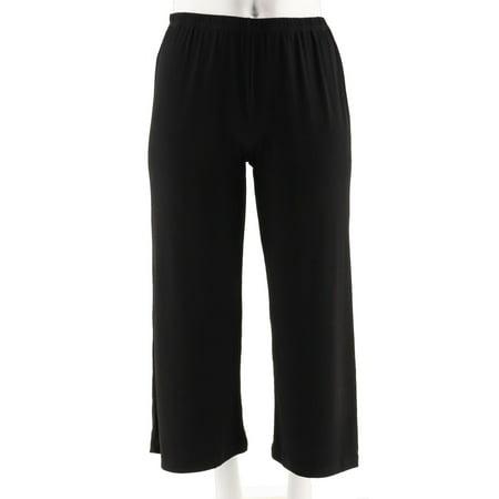 Joan Rivers Pull-on Print Jersey Knit Palazzo Pants A263869