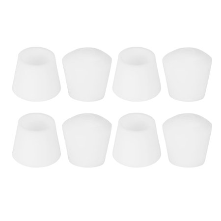 "Rubber Leg Caps Tip Cup End Cap  Feet Cover Fold Chair 14mm 9/16"" Inner Dia 8pcs for Furniture Chair"