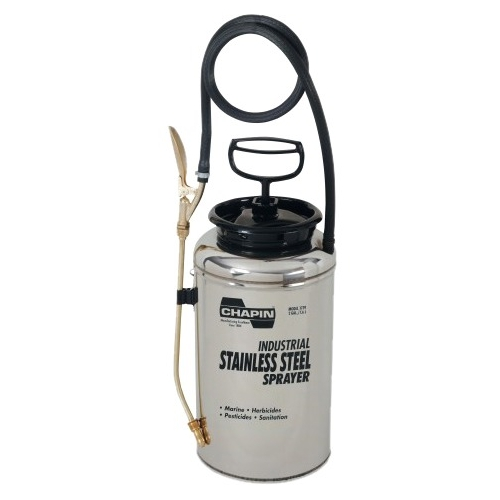 Stainless Steel Sprayer, 2 gal, 12 in Extension, 42 in Hose by Chapin