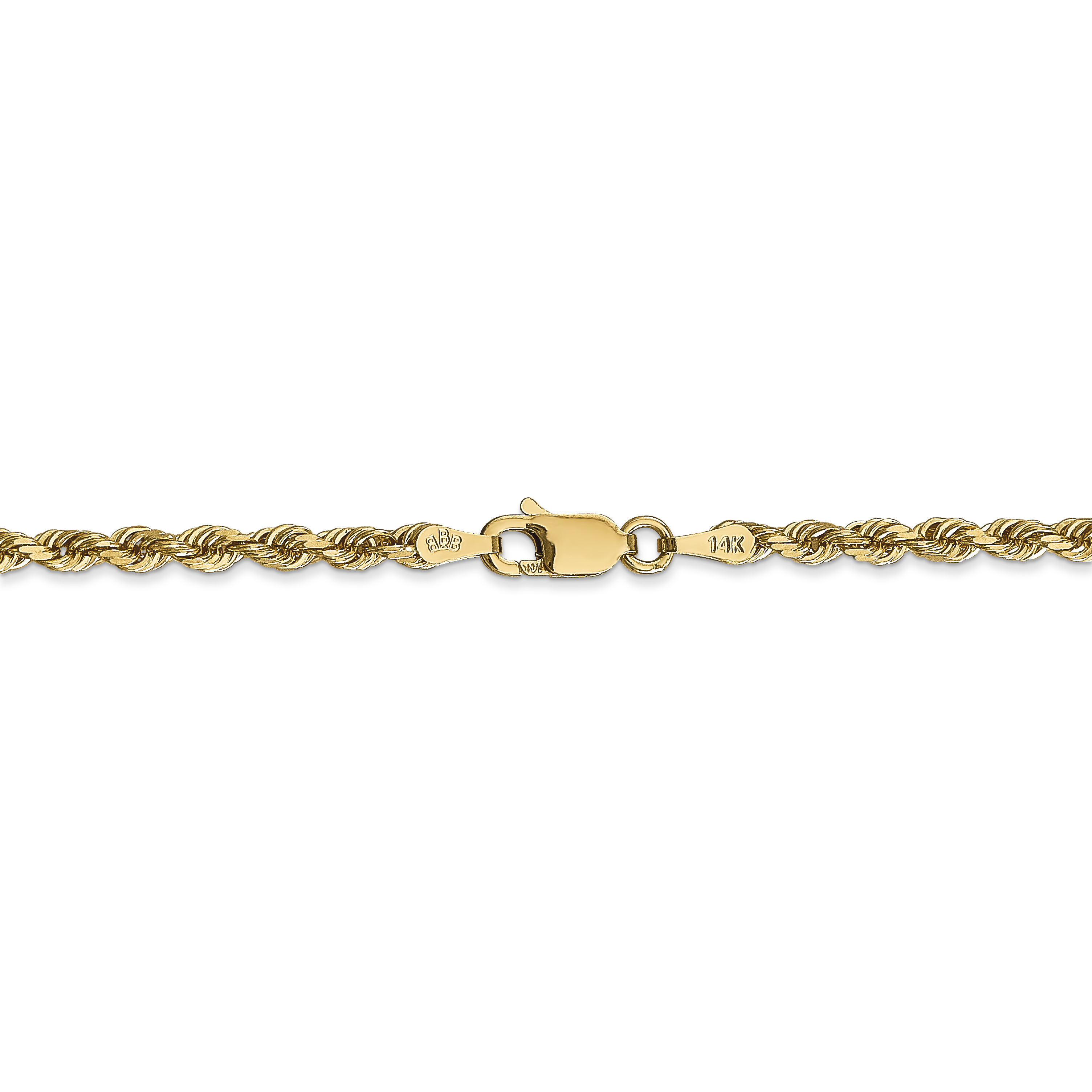 14K Yellow Gold 3.0mm Diamond Cut Quadruple Rope Chain 24 Inch - image 1 of 5
