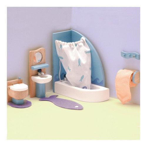 Le Toy Van Peppermint Powder Dollhouse Bathroom Set