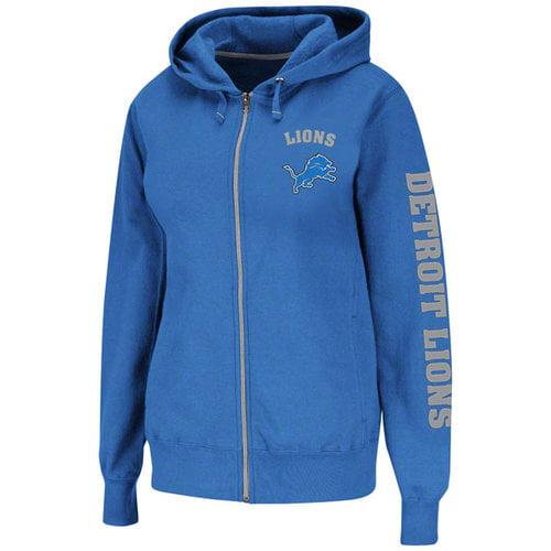 NFL - Detroit Lions Women's Blue Slot Screen Full Zip Hooded Sweatshirt