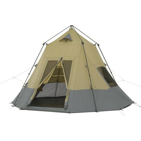 new style 15e21 fb4d5 Ozark Trail 12' x 12' Instant Tepee Tent, Sleeps 7