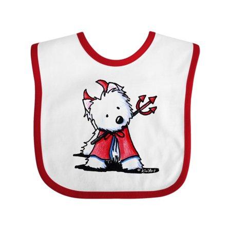 Little Devil Westie Baby Bib - KiniArt for $<!---->