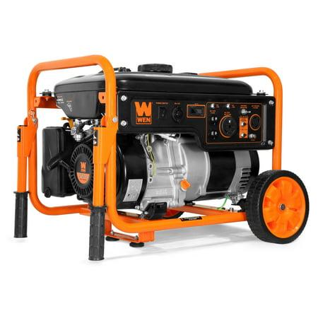 WEN 5000-Watt RV-Ready 120V/240V Portable Generator with Wheel Kit