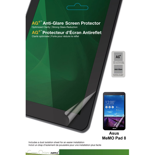 Green Onions Supply AG+ Anti-Glare Screen Protector ASUS MeMO Pad 8