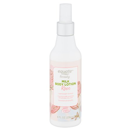 Equate Beauty Rose Milk Body Lotion, 8 fl oz