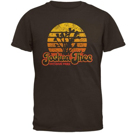 National Park Retro 70s Sunset Joshua Tree Mens T - 70s Clothes Mens