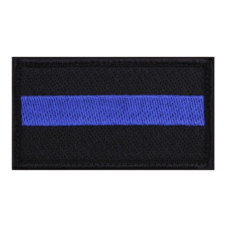 Rothco Thin Blue Line Patch, Police, Law Enforcement Support, 1 7/8