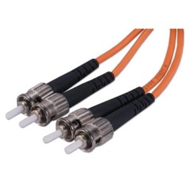 QVS FDST-10M 10m ST to ST Multimode Duplex Fiber Optic Patch Cord