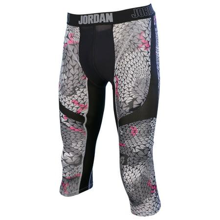 Jordan Men's Nike Pro Stay Cool Compression Tight Pants (Black/Gray, XX-Large)