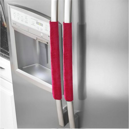 A Pair Refrigerator Handle Cover Kitchen Appliance Refrigerator Cover A Pair Refrigerator Handle Cover Kitchen Appliance Refrigerator CoverFeature:Quantity:1pairMaterial:ClothSize:40(L)*12(W)cmColor:multicolorDOUBLE SIDE USE:Longer time for using.Package Include:1 Pair Refrigerator Handle Cover