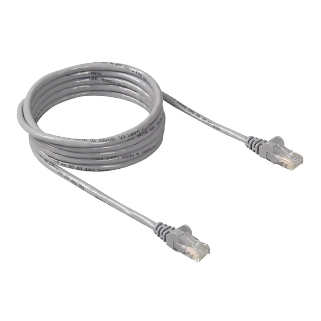 Belkin Cat.6 Patch Cable - 7 ft - 1 Pack - Gray