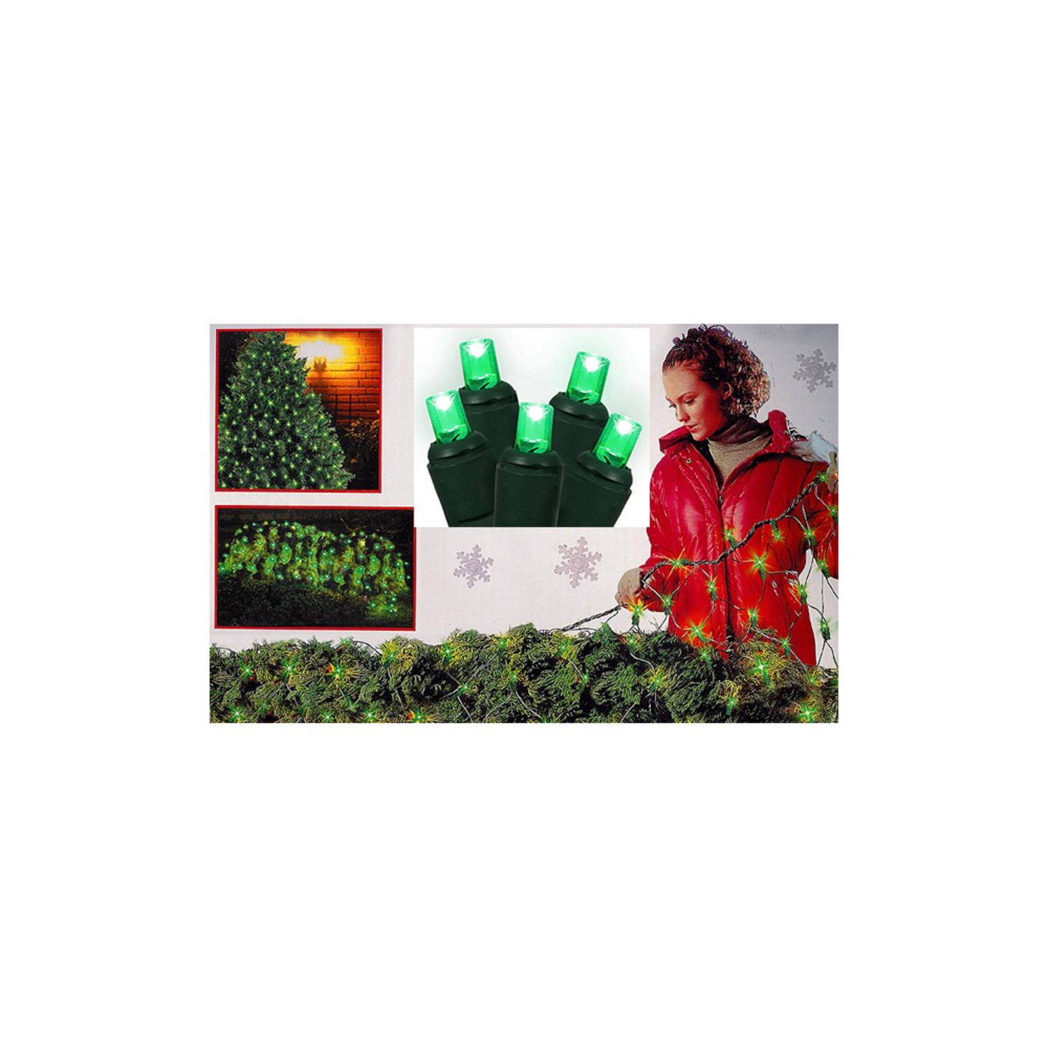 4' x 6' Green Wide Angle LED Net Style Christmas Lights - Green Wire
