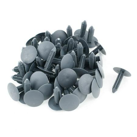 Door Handle Rivet (Auto 7mm Hole Gray Plastic Rivets Bumper Door Fastener Push Clips 50 Pcs)