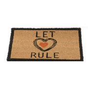 "24"" x 16"" Basic Luxury ""Let Love Rule"" Brown and Black Coir Door Mat"