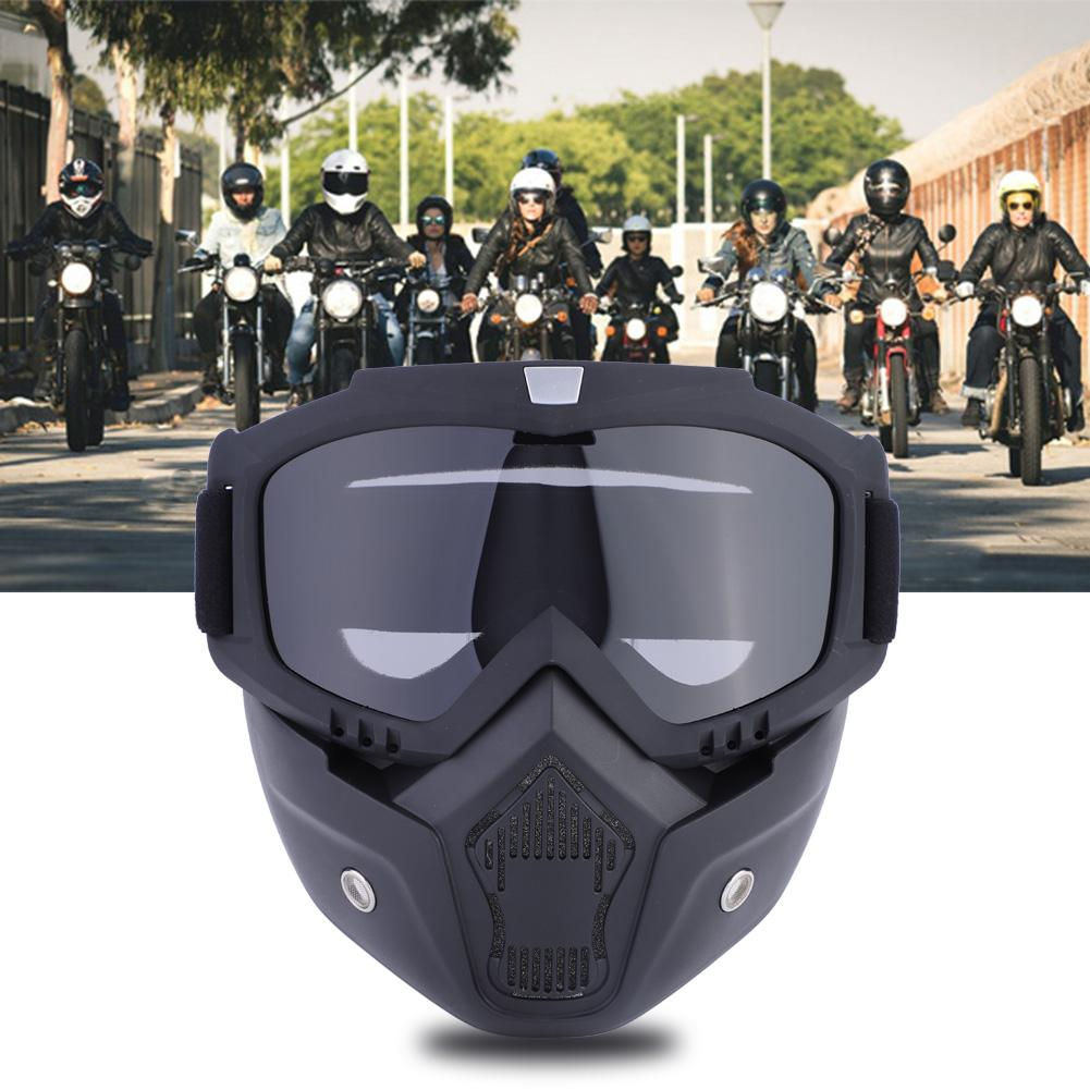 Hilitand 5 Colors Sports Ski Snowboard Cycling Face Mask with Detachable Eye Glasses, Ski Glasses, Ski Face Mask