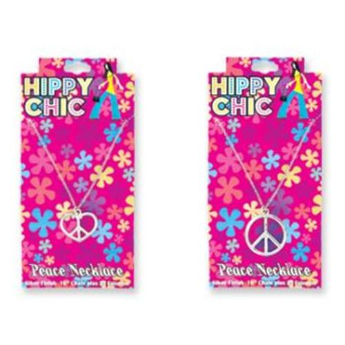 DDI 412164 Hippy Chic Peace Necklace Case Of 6