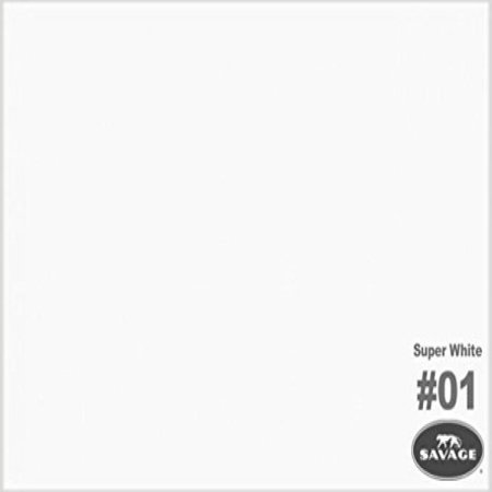 Savage Seamless Background Paper, 53 wide x 12 yards, Super White, #1 ()