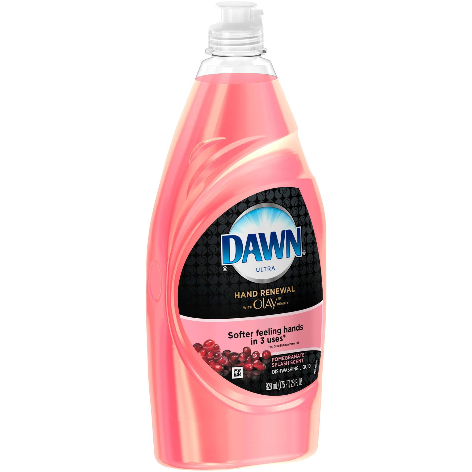Dawn Hand Renewal with Olay Dishwashing Liquid, Pomegranate Splash, 28 fl oz