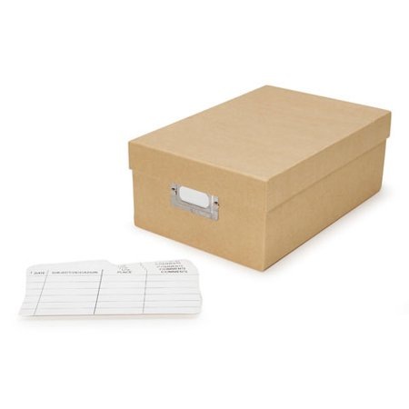 Darice Photo Storage Box Tan Paper - Paper Containers