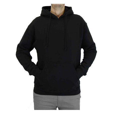 Men's Heavyweight Fleece-Lined Black Pullover Hoodie ()