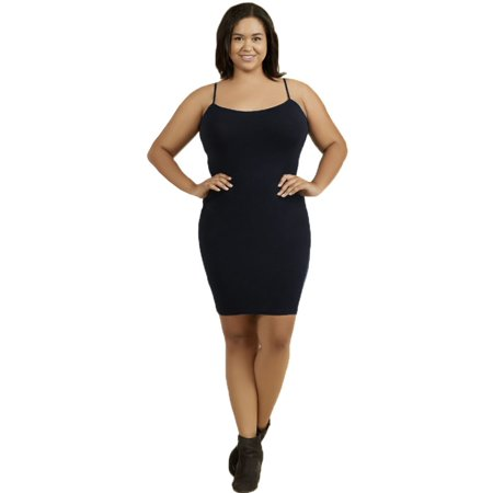 Sofra Women's Plus Size Camisole Dress