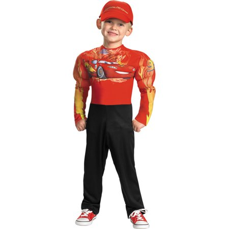Morris costumes DG27237K Lightning Mcqueen Muscle 7-8 - Lightening Mcqueen Costume