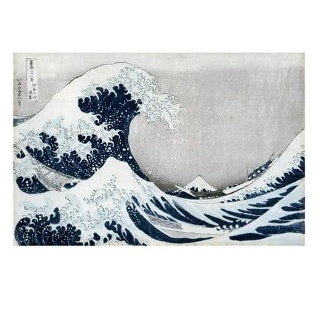 The Great Wave Off Kanagawa, from the Series '36 Views of Mt. Fuji' ('Fugaku Sanjuokkei') Print Wall Art By Katsushika