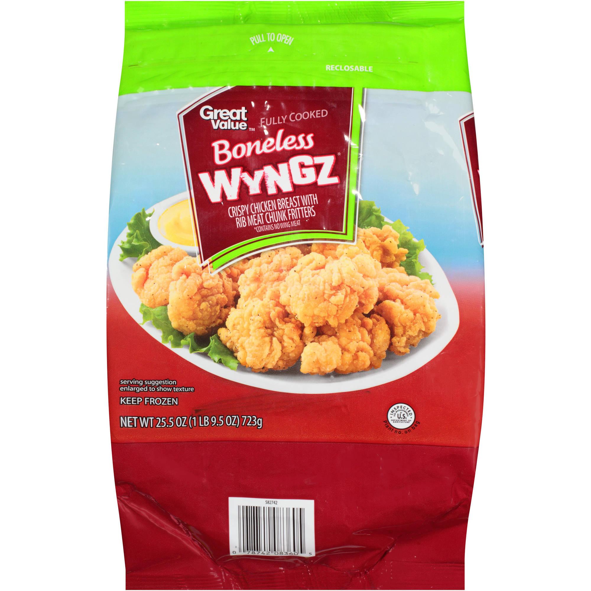 Great Value Boneless Wyngz, 25.5 oz