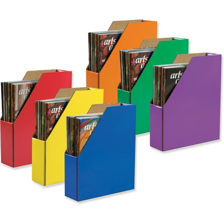Classroom Keepers Corrugated Magazine Holders, 6 Assorted Colors