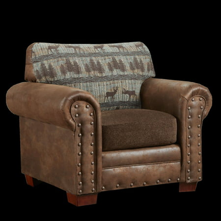 American Furniture Classics Deer Teal Tapestry Lodge Upholstered - Lodge Style Furniture