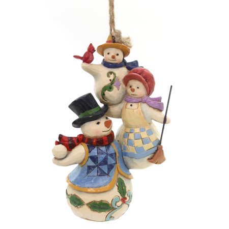 Snowman Stack - Jim Shore STACKED SNOWMAN ORNAMENT Polyresin Heartwood Creek 4058821