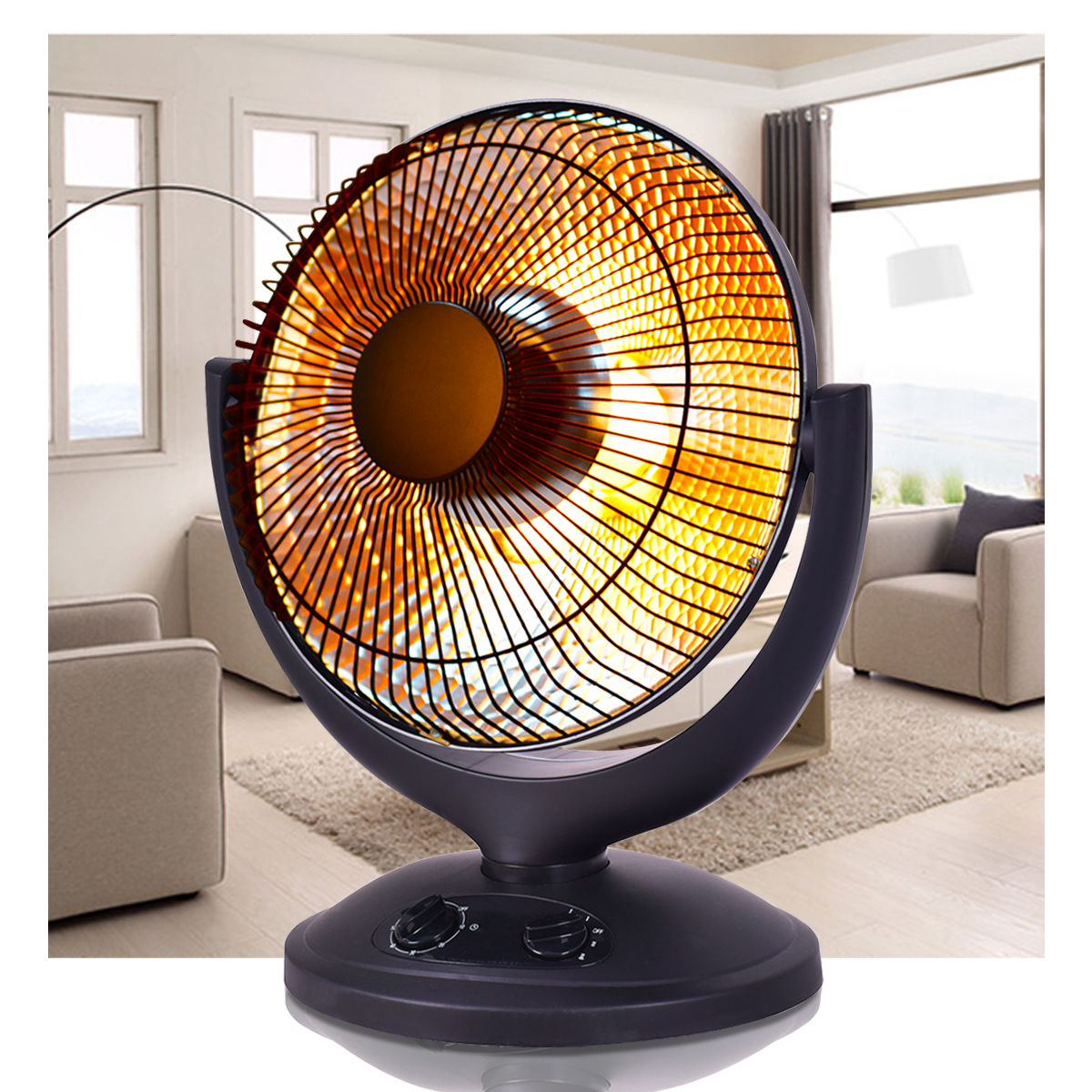 Costway Electric Parabolic Oscillating Infrared Radiant Space Heater W Timer Home office by Costway