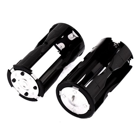 Round Battery Holder Container Case 2Pcs for 4 x AAA Batteries - image 1 de 1
