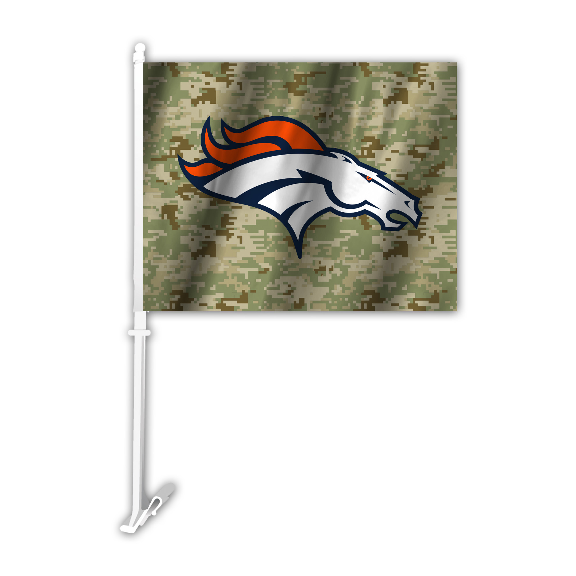 NFL Denver Broncos Camo Car Flag